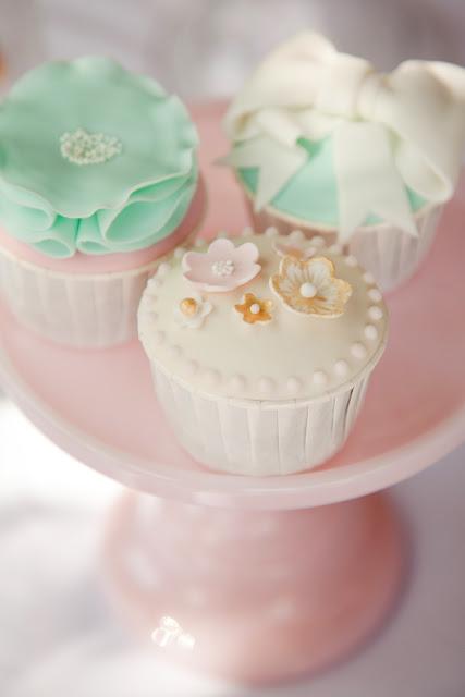 Ballerina Pink Tutu Party, cupcakes, petit fours, pink, mint