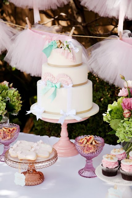 Ballerina Pink Tutu Party by Daisy from Leo & Bella! This DIY Birthday party is too perfectly pink for words! Sweet Ballerina Cake!