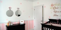 Once Upon a Time Nursery - pink and white shabby chic