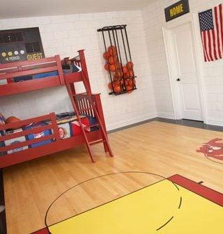 Cool Basketball Bedroom!
