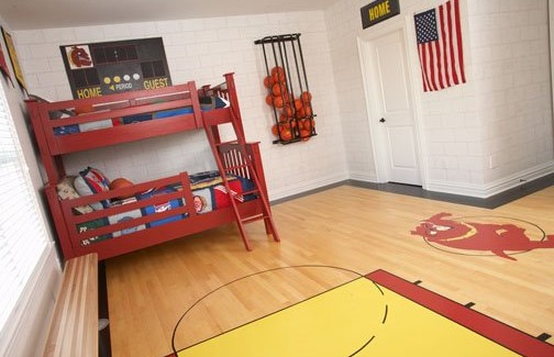 Boys basketball room archives design dazzle for Basketball bedroom ideas
