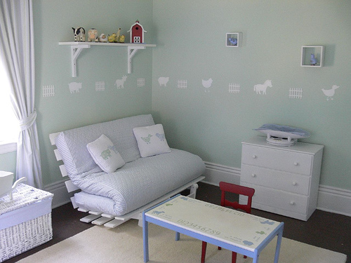 This is such a fun farm themed nursery - great for older boys too!
