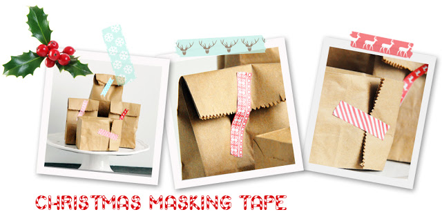 Christmas Printables: Christmas Masking Tape featured on Design Dazzle