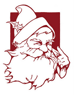 Free Santa Printable featured on Design Dazzle