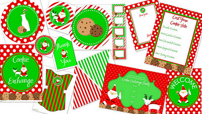 Christmas Cookie {Free Printables} Featured on Design Dazzle