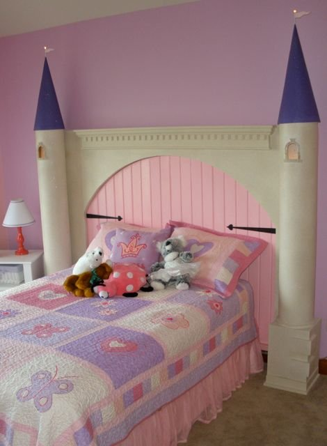 diy castle headboard
