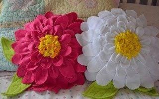 Flower Power: Fleece Fabric Pillow