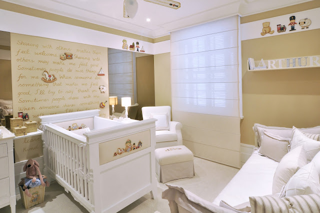 Gorgeous Classic Toy Baby Nursery by Lucia Tacla. The soft neutral tones create a calm vibe that is still playful. Love.