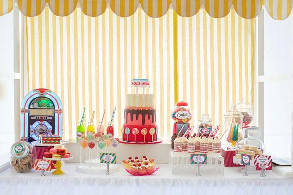 Kids Parties Retro Milk Bar Design Dazzle