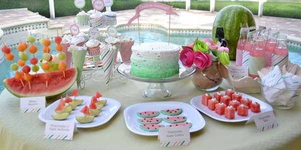 simple watermelon party