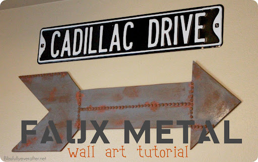 Faux Metal Wall Art Tutorial by Jennifer from Blissfully Ever After ...
