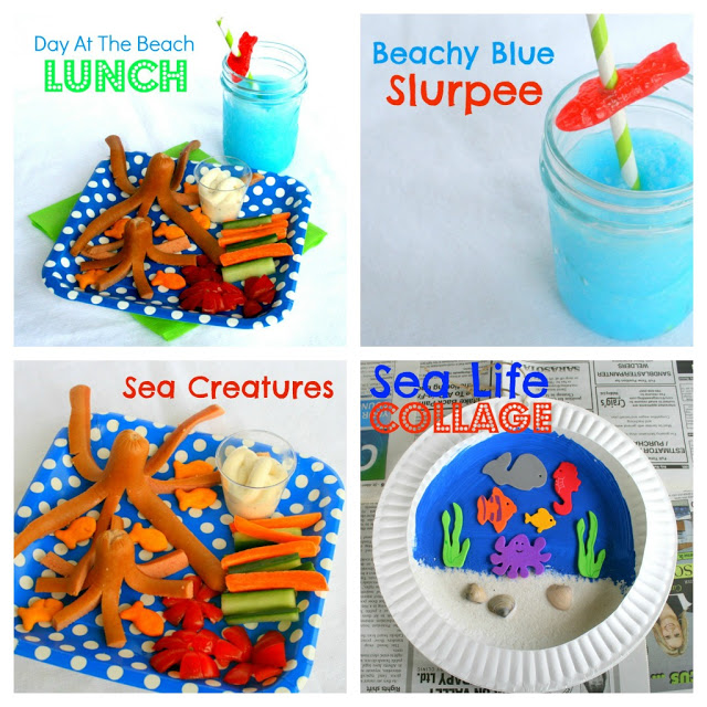 Bring the beach home! Great stay at home beach activities! Kids will love these!