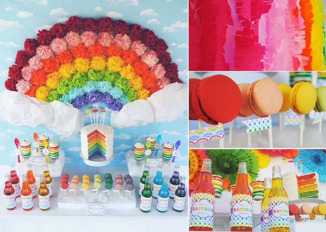 Amazingly colorful rainbow party by Gwynn Wasson! This party is so much fun and full of life!