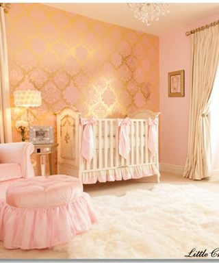 Glamour & Old Hollywood Baby Nursery