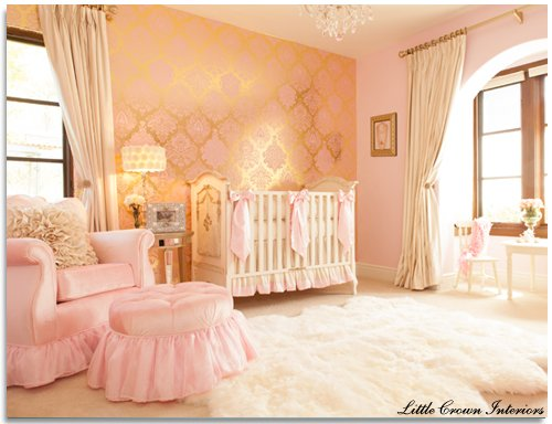 Glamour Old Hollywood Baby Nursery Design Dazzle