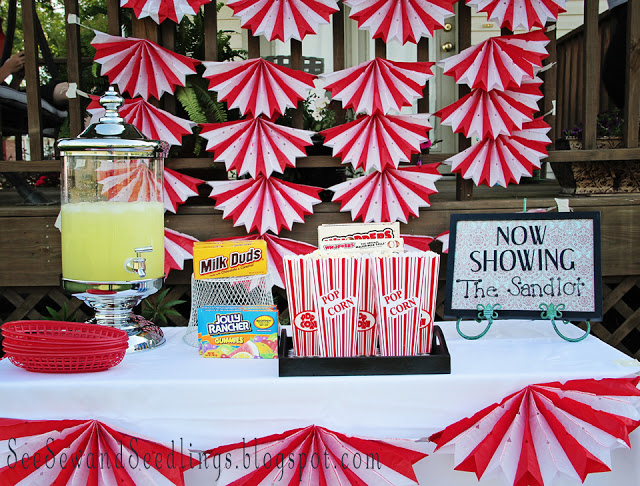 Backyard Movie Night is perfect for the summer time! Love this idea!