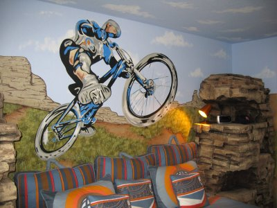 Motocross boys room design dazzle for Dirt bike bedroom ideas