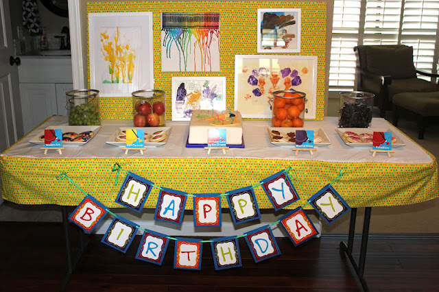 Kids Art Party by Julie Greene is artistically fantastic! DIY party that is so clever and creative!