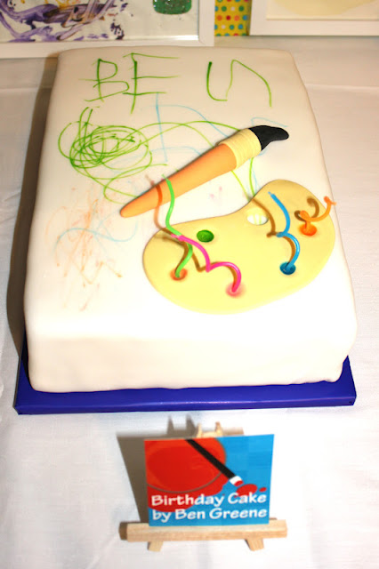 Kids Art Party Cake! Created by the Birthday Boy himself!!
