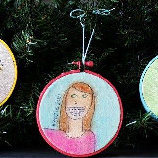 Kids: Self Portrait Ornaments