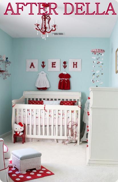 Baby Girl Nursery Robin S Egg Blue Amp Red Color Combo