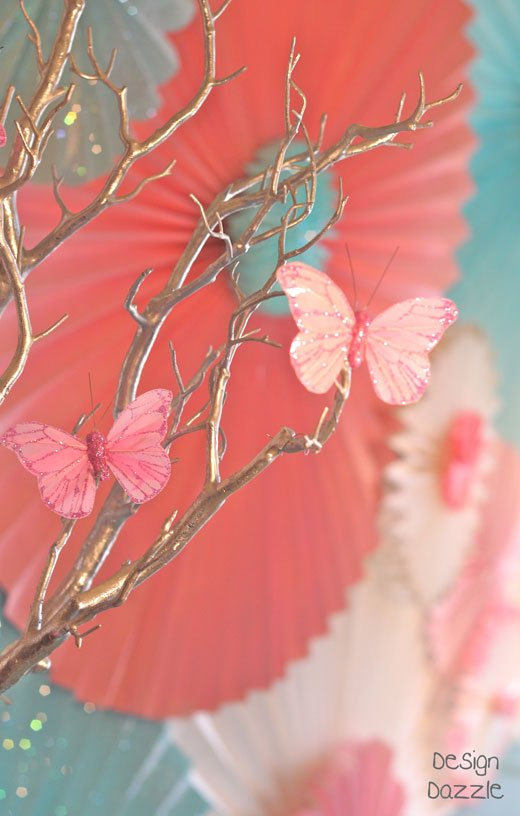 How To Make a Party Backdrop Out of Paper Window Shades - Design Dazzle