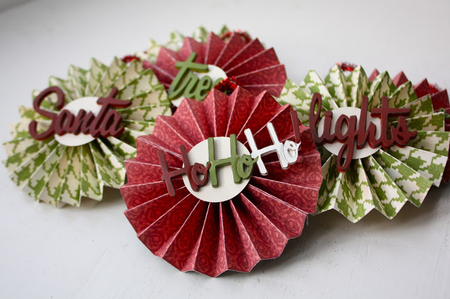 Darling DIY Christmas Paper Medallions featured on Design Dazzle