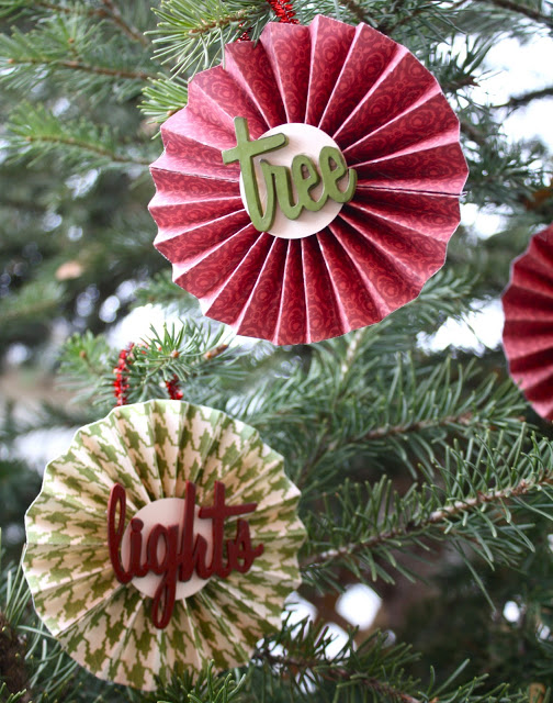 DIY Christmas Ornaments made from Paper! Featured on Design Dazzle