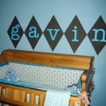 Baby name over crib