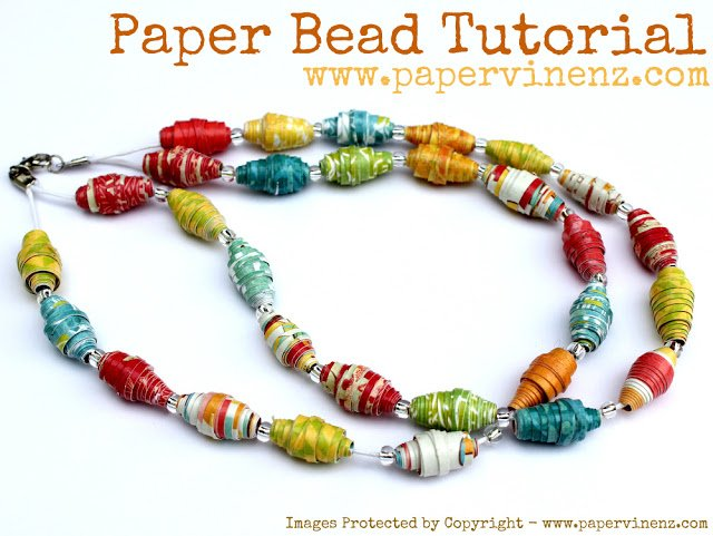 Paper Bead Tutorial for an awesome summer craft!
