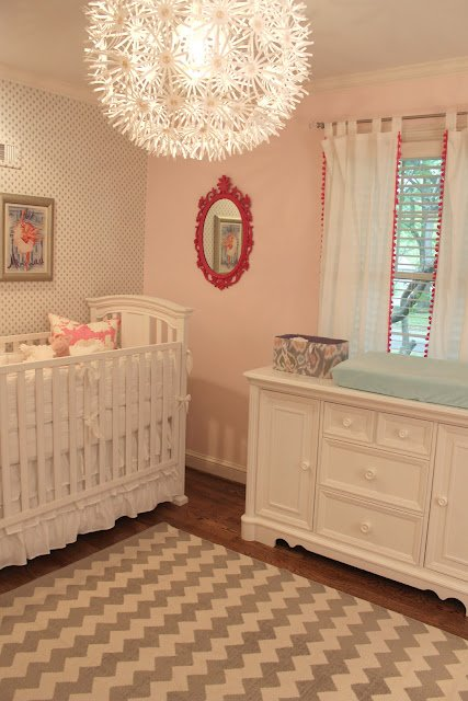 Sweet Blush Nursery by Melanie of Your Style Scout! Gentle color tones with some simple pops of pizzazz!