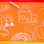 DIY: Chalkboard Paint & Contact Paper & Placemats