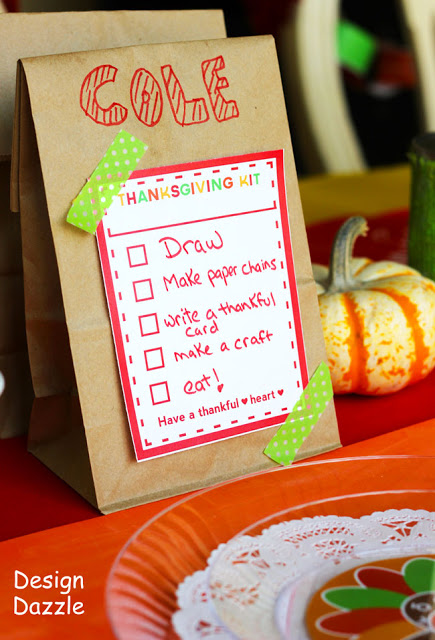 Kids Thanksgiving table activities - Design Dazzle