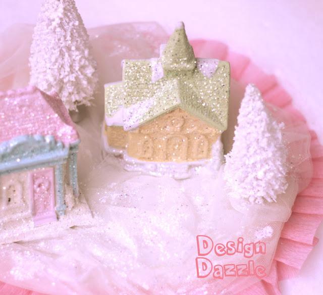DIY dollar store ceramic village Christmas craft by Design Dazzle