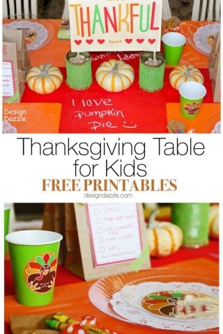Christmas Wonderful: A Thanksgiving Table For Kids – Free Printables