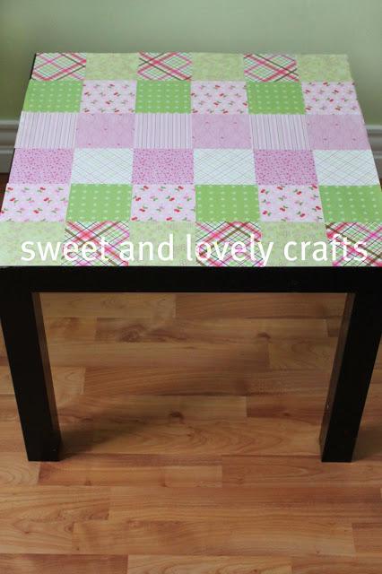 15 Awesome Ikea Hacks, tea table, side table, ikea, pink, green