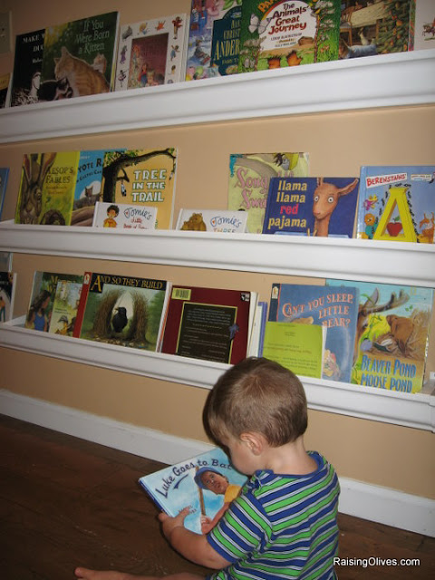 how to make rain gutter bookshelves