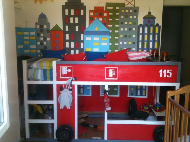 15 Awesome Ikea Hacks, firetruck, ikea bed, ikea