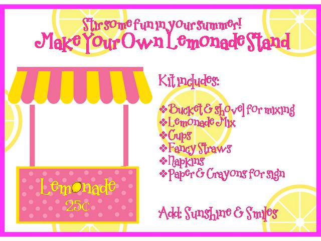 lemonade stand flyer template