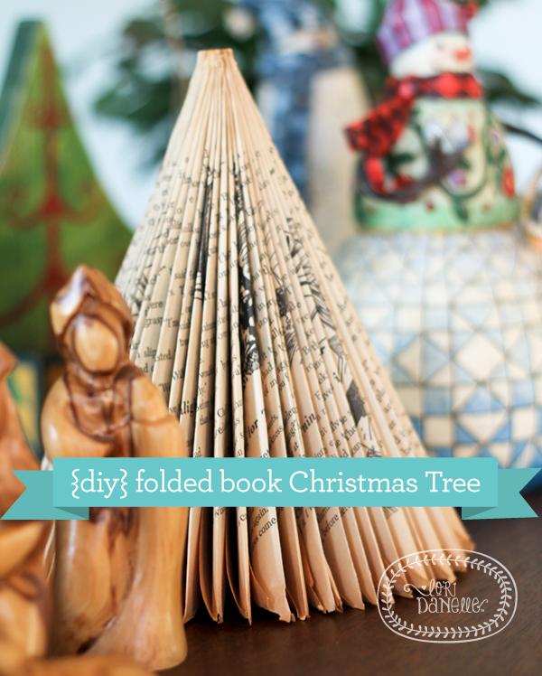 DIY folded book Christmas Tree