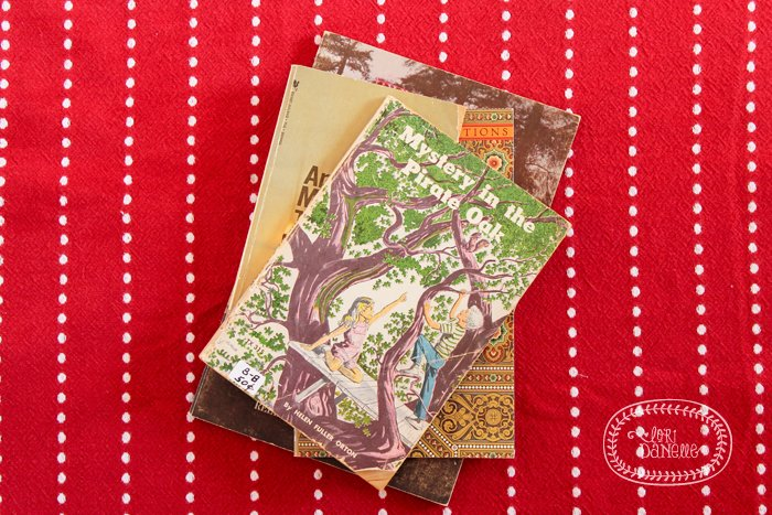 Old books can make vintage inspired decor. Featured on Design Dazzle