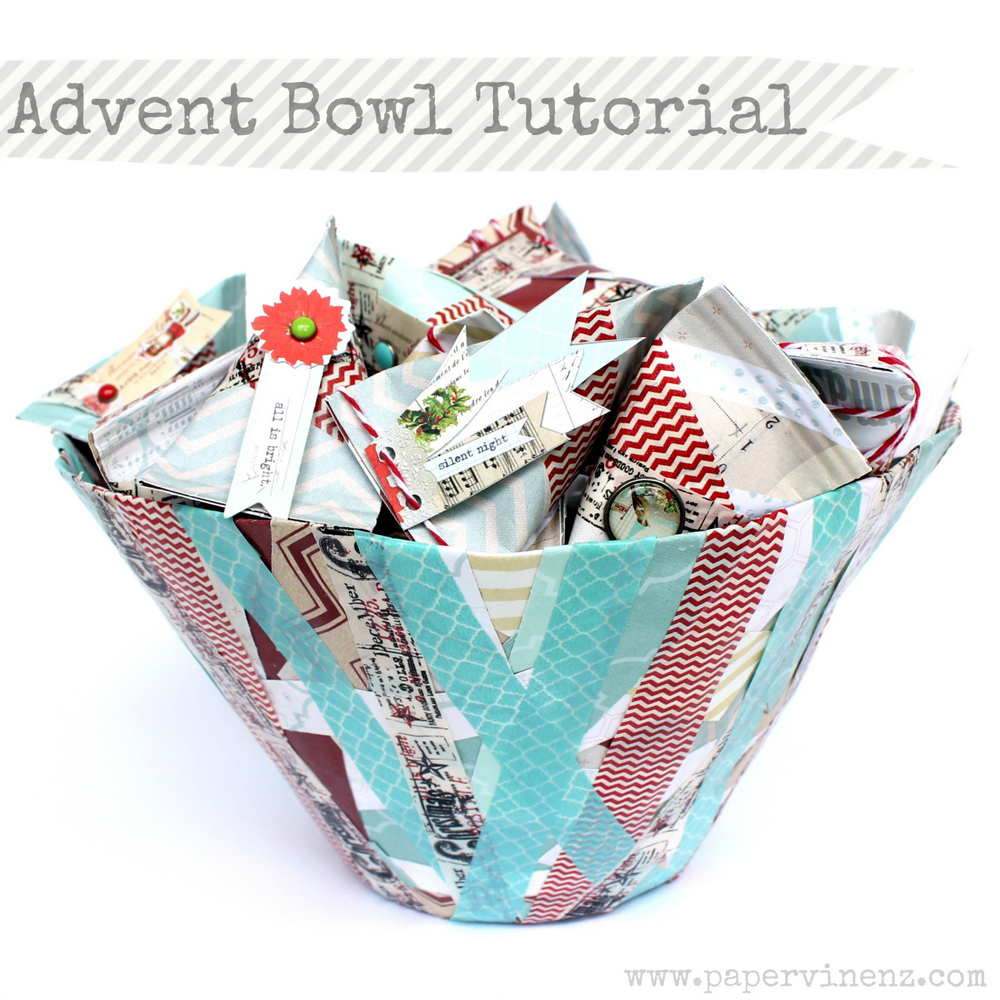 Advent Bowl Tutorial featured on Design Dazzle