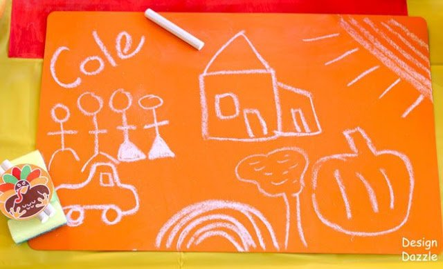 A Thanksgiving Table Perfect For Kids, diy chalkboard paint - Design Dazzle