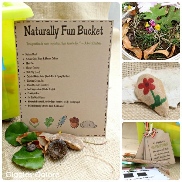 Great idea for some outdoor creativity! A Naturally Fun Bucket!