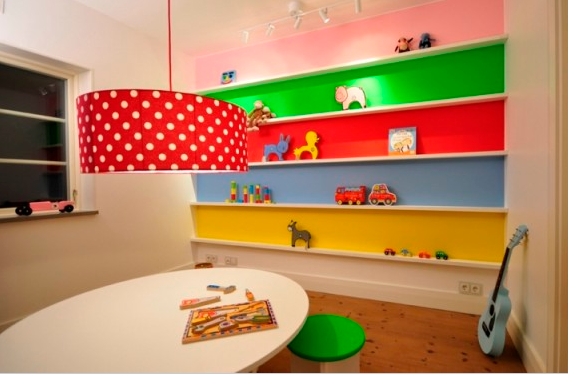 Playrooms creative ideas design dazzle - Funny playroom with colorfull wall paint idea ...