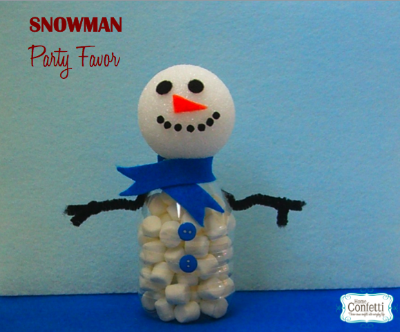 Snowman Water Bottle Party Favor