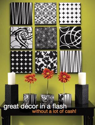 Fabric Covered Canvas Art - Design Dazzle