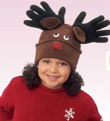 Darling DIY Reindeer hat featured on Design Dazzle