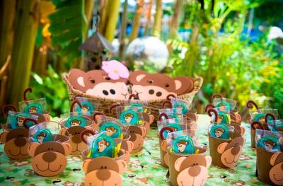 1st Year Monkey Birthday Party Design Dazzle