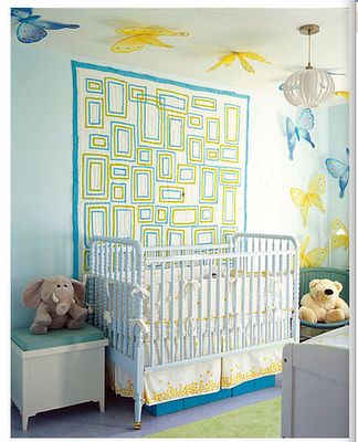 How To Hang A Quilt On The Wall nursery wall ideas: above the crib - design dazzle